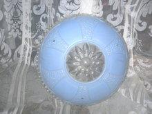 Vintage 3 Chain Dish Blue Glass Light Shade