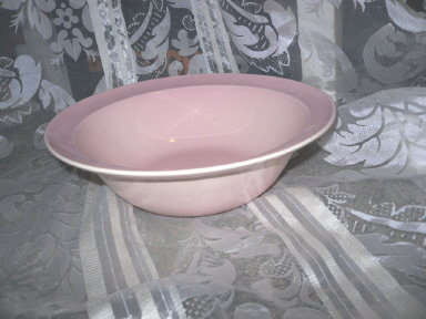 Vintage Lu-Ray Pastels Pink Serving Bowl