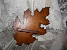 Vintage Wooden Leaf Wall Shelf