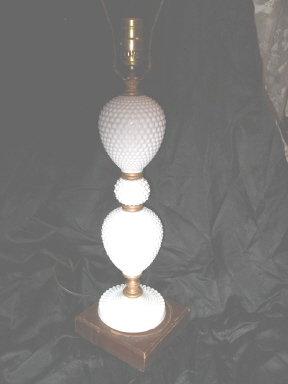 Vintage Hobnail Milk Glass Table Lamps **Pair**