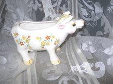 Vintage Ceramic Cow  Planter