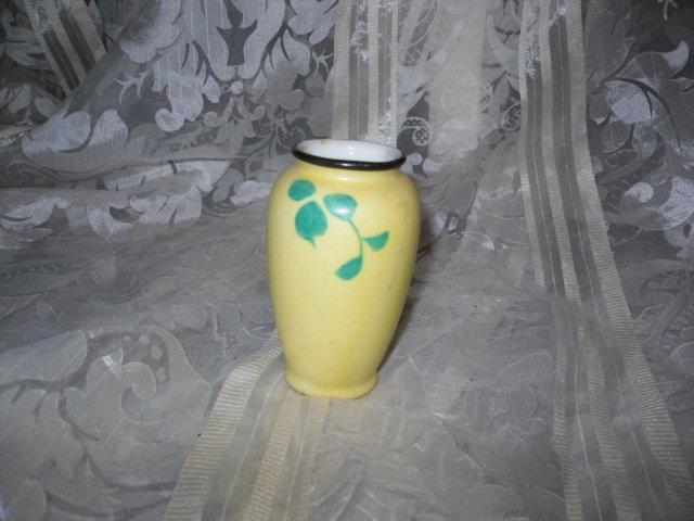 Vintage Porcelain Yellow Vase
