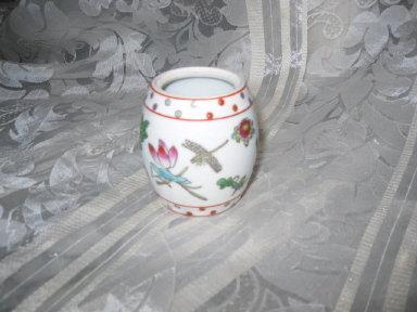 Vintage Porcelain Barrel  Vase