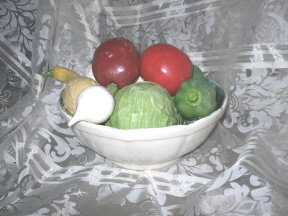 Large Ceramic Vegetable &  Bowl Set