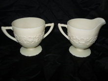 Vintage Indiana Custard Glass Cream & Sugar Set