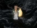Vintage Etched Crystal Perfume Bottle & Atomizer