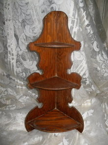 Vintage Wooden Corner Shelf
