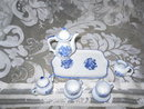 Miniature Blue & White Porcelain Tea Set