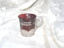 Vintage Stained Ruby Glass Miniature Cup