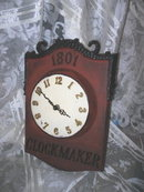 Vintage Clock Makers Advertising Sign Clock