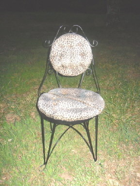 Vintage Iron Ice Cream Parlor Chair or Vanity Chair