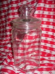 Vintage Large Glass Cookie Jar or Counter Jar