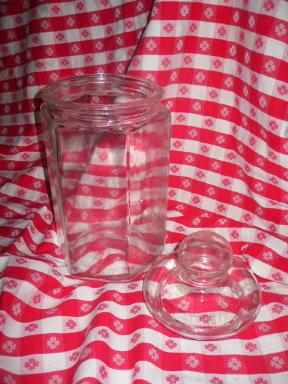 Vintage Large Glass Cookie Jar or Counter Jar