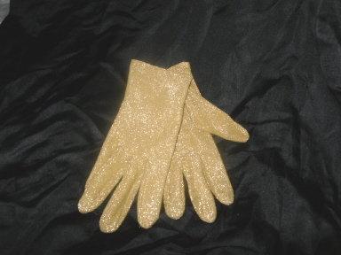 Vintage Gold Cloth Dress Gloves