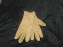 Vintage Gold Cloth Dress Gloves