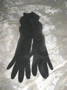 Vintage Long Black Gloves