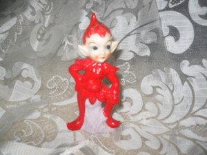 Vintage Porcelain Pixie Figurine