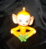 Vintage Orange Pixie Figurine