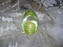 Yellow Helix Egg Shaped Paperweight