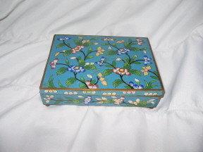 Vintage Cloisonné Enamel Trinket Box