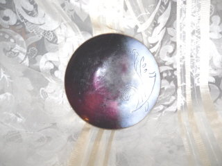 Vintage Purple Enamel over Copper Plate **Signed by  Potter & Mellen