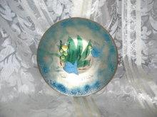 Vintage Enamel Dish w/Fish Scene  **Signed Martha