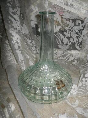 Vintage Bottle w/Embossed Weave Pattern