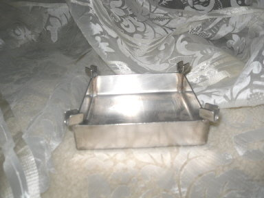 Vintage Hand Made Metal Ashtray