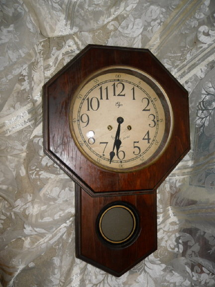Vintage Key Wind Strike Wall Clock