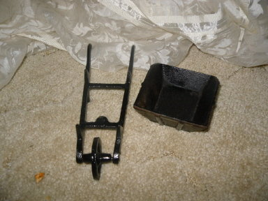 Vintage Small Cast Iron Wheel Barrow