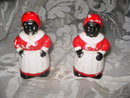Vintage Mammie Salt & Pepper Shakers