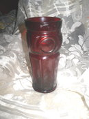 Vintage Depression Ruby Red Glass Plymouth Tumbler Set **4