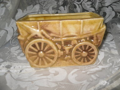 Vintage Covered Wagon Planter