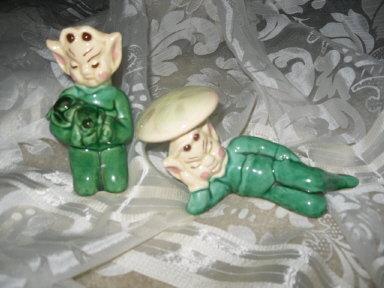 Vintage Pixie Figurine Pair  Gilner ??