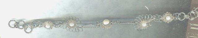 Vintage Filigree & Pearl Bracelet