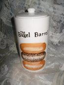 Vintage  Bagel Barrel Canister
