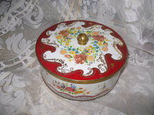 Vintage English Tin Container