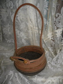 Hand Made Lariat Rope Basket