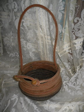Hand Made Lariat Rope Basket