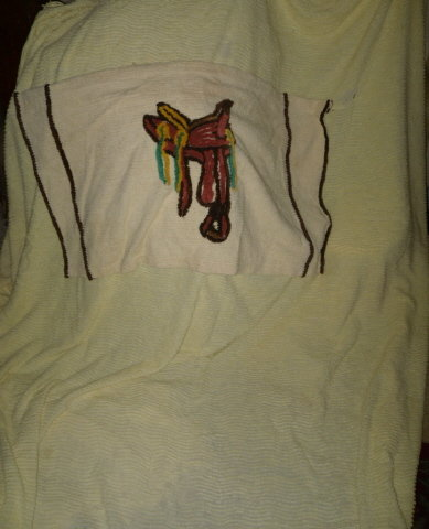 Vintage Chenille Bedspread w/Saddle