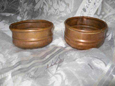 Vintage Hand Hammered Copper Bowl Set