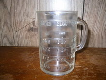 Vintage Glass Measure Cup  **Book Piece**