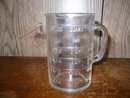 Vintage Glass Measure Cup  **Book Piece**