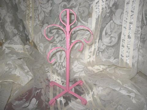 Vintage Pink Metal Cup Holder