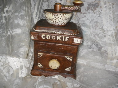 Vintage Coffee Grinder Cookie Jar