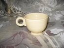 Vintage Early Ivory Fiesta Coffee Cup