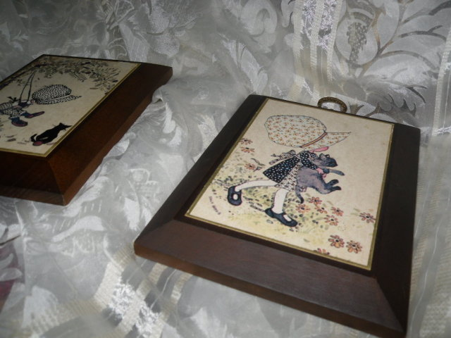 Vintage Holly Hobbie Wall Plague Set