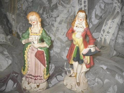 Vintage Tilso Porcelain Victorian Lady Figurine