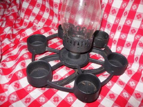 Horseshoe &  Cast Iron Candle Holder
