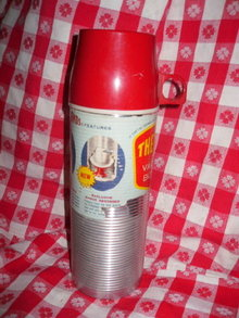Vintage Space Age Industrial Thermos Brand w/Original Label